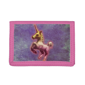 Portefeuille en nylon triple de licorne (brume