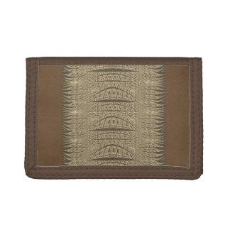 Portefeuille frais d'art abstrait de Brown pour