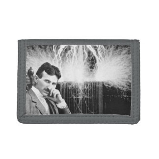 Portefeuille triple gris de Nikola Tesla