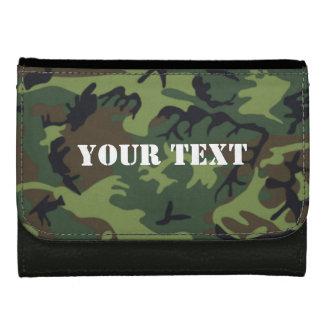 Portefeuille vert de camo d'armée