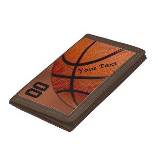 Portefeuilles PERSONNALISÉS de basket-ball pour