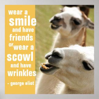 Portez un sourire et ayez la citation de George Posters