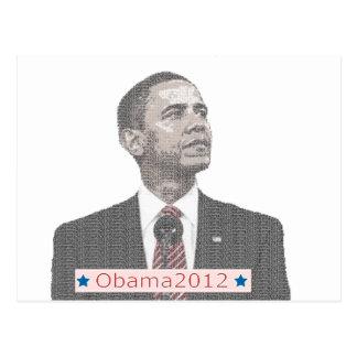 Portrait 2012 des textes de Barack Obama Carte Postale