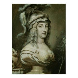 Portrait allégorique de la Reine Christina de Carte Postale