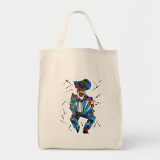Portrait cubiste de joueur d'Accordian d'isolement Tote Bag