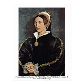 Portrait de 5ème épouse de Catarina Howard du Roi Carte Postale