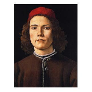Portrait de carte postale de jeune homme