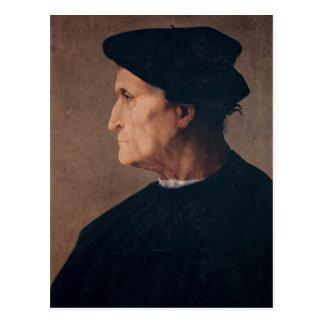 Portrait de carte postale de vieil homme
