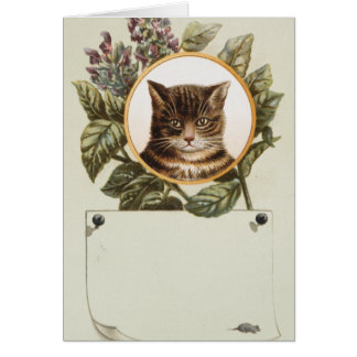 PORTRAIT DE CAT CARTE DE VŒUX