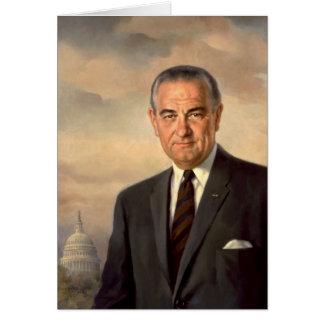 Portrait de fonctionnaire de Lyndon Johnson Carte