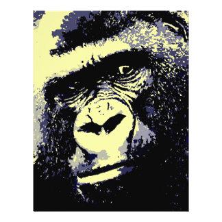 Portrait de gorille prospectus 21,6 cm x 24,94 cm