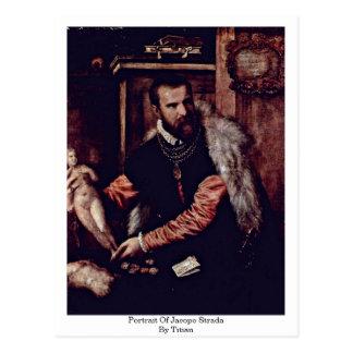 Portrait de Jacopo Strada par Titian Carte Postale