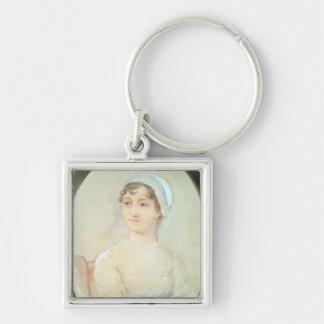 Portrait de Jane Austen Porte-clé Carré Argenté