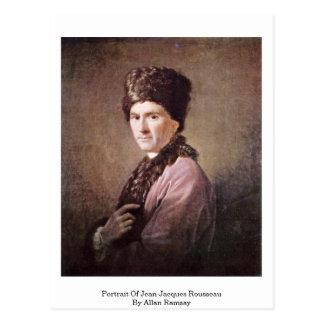 Portrait de Jean-Jacques Rousseau par Allan Ramsay Carte Postale