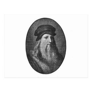 Portrait de Léonard de Vinci Carte Postale