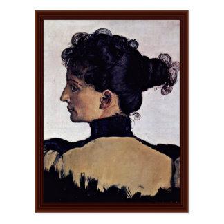 Portrait de l'épouse Berthe Jacques des artistes Carte Postale
