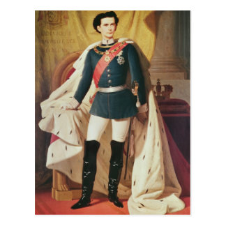 Portrait de Ludwig II de la Bavière dans l uniform Cartes Postales