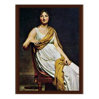 Portrait de Madame De Verninac By David Jacques-Lo Carte Postale