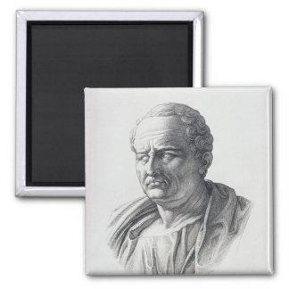 Portrait de Marcus Tullius Cicero Magnet Carré
