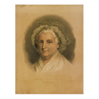 Portrait de Martha Washington par Ives Carte Postale