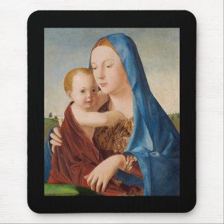 Portrait de Mary tenant le bébé Jésus Tapis De Souris