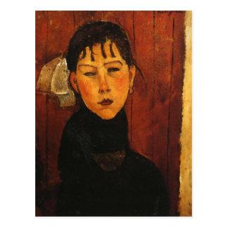 Portrait de Modigliani Amedeo Carte Postale