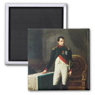 Portrait de Napoleon Bonaparte 1809 Magnet Carré
