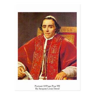 Portrait de pape Pius Vii par Jacques-Louis David Carte Postale