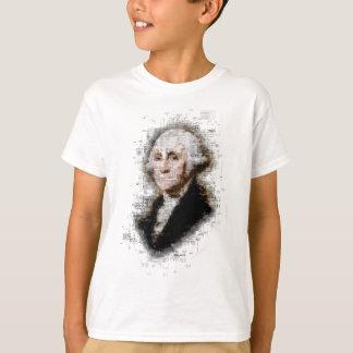 Portrait de papier journal de George Washington T-shirt