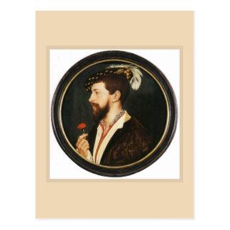 Portrait de Simon George par Hans Holbein plus Carte Postale