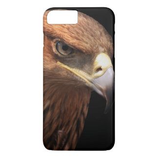 Portrait d'Eagle d'isolement sur le noir Coque iPhone 7 Plus