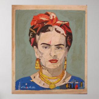 Portrait d'en Coyoacán de Frida Kahlo Poster