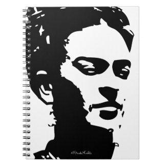 Portrait d'ombre de Frida Carnet À Spirale
