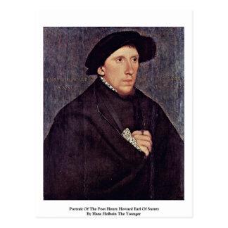 Portrait du comte de Henry Howard de poète Carte Postale