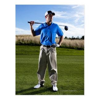 Portrait d'un golfeur un jour ensoleillé cartes postales