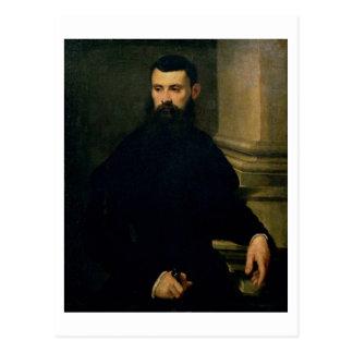 Portrait d'un homme (huile sur la toile) 2 carte postale