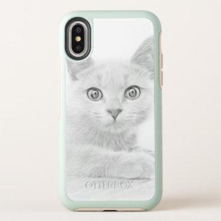 Portrait MIGNON de chaton en noir et blanc