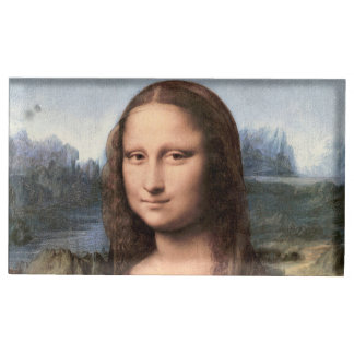 Portrait/peinture de Mona Lisa Porte-carte De Table