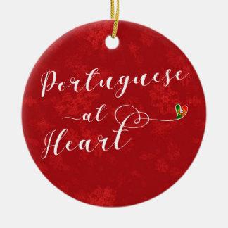 Portugais au coeur, ornement d'arbre de Noël