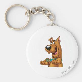 Pose 23 d'aerographe de Scooby Doo Porte-clé Rond