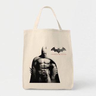 Pose large noire et blanche de la ville | Batman Sac En Toile Épicerie