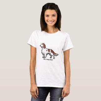 Poseur rouge et blanc t-shirt