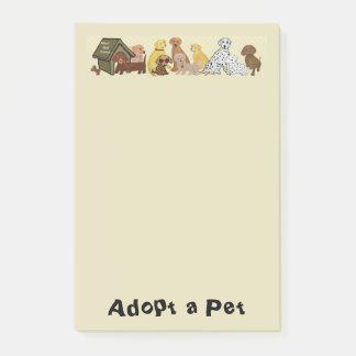 Post-it® Adoptez un animal familier