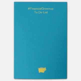 Post-it® Adulte financier de post-it pour faire la liste