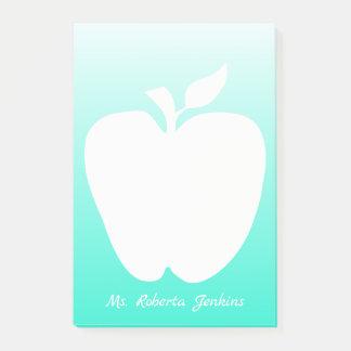 Post-it® Apple silhouettent le bloc-notes du professeur