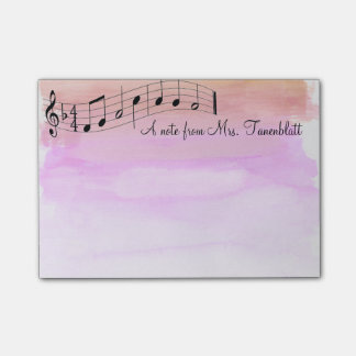 Post-it® Aquarelle musicale de bloc - notes