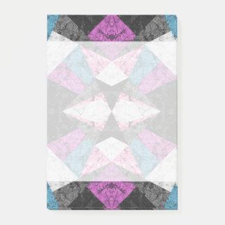 Post-it® Arrière - plan géométrique de marbre G438 de notes