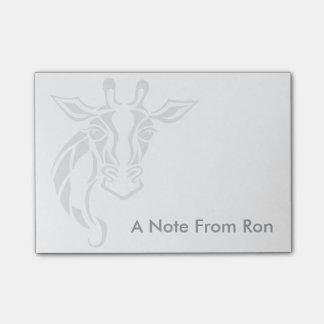Post-it® Art de tatouage de tête de girafe