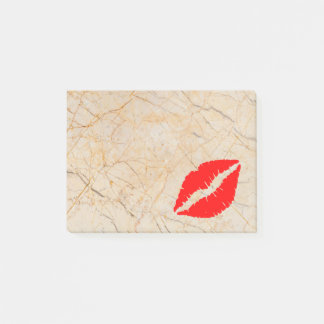 Post-it® Belles lèvres personnalisées sur le marbre