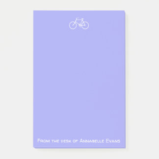 Post-it® Bicyclette blanche sur la violette